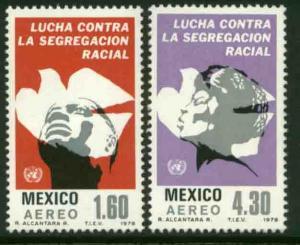MEXICO C583-C584, Anti-Apartheid Year. MINT, NH. F-VF.