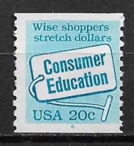 1982 USA 2005 Consumer Education coil plt #4 single mint
