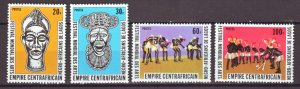 J22378 Jlstamps 1978 central african set mnh #337-40 dancers