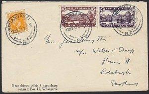 NEW ZEALAND 1931 Christmas flight cover to UK ex Whangarei..................H617
