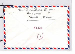 CE185 KENYA Sea Shells Cover KUT HEALTH STAMP Mixed Franking 1975 Air Mail