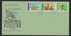 1982 Gambia Boy Scouts 75th anniversary FDC