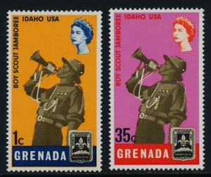 Grenada 268,271 MH Scouts, Dot in Hat Variety
