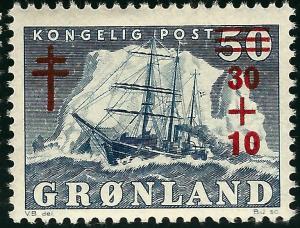 Greenland (Scott B1)  F-VF MH...Nice!