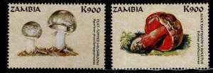 Zambia Scott 750a-b MNH** 1998 Mushroom stamps
