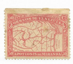 Venezuela #140 Faults Forgery? - MH - Stamp CAT VALUE $52.00