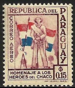 Paraguay Air Mail 1957 Scott# C234 MH