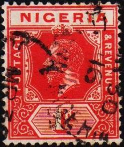 Nigeria. 1914 1d S.G.16b  Fine Used