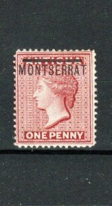 Montserrat 1876-83 1d Antigua opt MLH