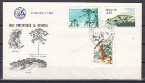 Brazil, Scott cat. 1395-1397. Nature Preservation issue. First day cover. ^
