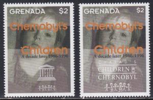 Grenada # 2660-2661, Chernobyl's Children, Anniversary, NH, 1/2 Cat
