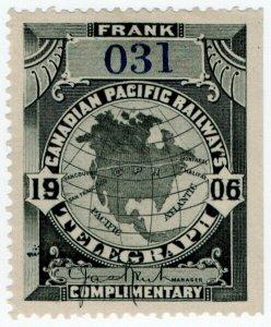 (I.B) Canada Telegraphs : Canadian Pacific (1906)