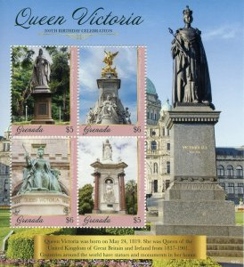 Grenada 2019 MNH Queen Victoria 200th Birthday 4v M/S I Royalty Stamps
