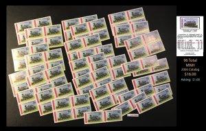 Nicaragua Dealer's Lot ~ Trains Sct. 1080 ~ 96 tot  ~ CLR90541