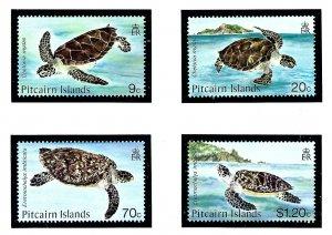 Pitcairn Is 266-69 MNH 1986 Turtles          (KA)