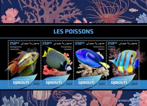 DJIBOUTI / 2019 Fishes.Imperf.