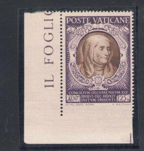1946 Vatican - N° 111e Council Di Trento Non Serrated - Lower, Corner D