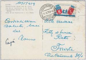 56719 - GASTRONOMY: Beer -  ITALY -  POSTAL HISTORY: Postmark on POSTCARD 1959
