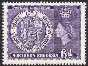 Northern Rhodesia 1953  Rhodes Centenary Exhibition MH