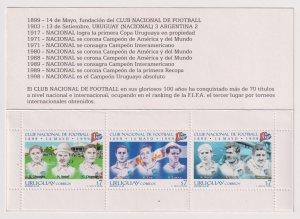 Uruguay 1999 The 100th Anniversary of the Nacional Football Club  (MNH)  - Footb