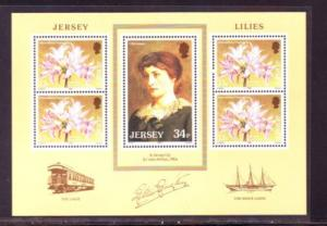 Jersey Sc 392a 1986 Flower Gala Lilly stamp sheet NH
