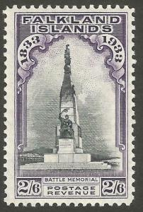 Falkland Islands Centenary 1933 2/6 black and violet unmounted mint Cat Val £250