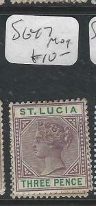 ST LUCIA  (P2705BB)  QV   3D     SG 47    MOG