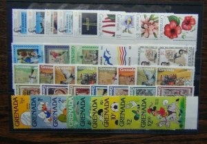 Grenada 1979 Flowers ICY Disney Rowland Hill Independence Human Rights etc MNH