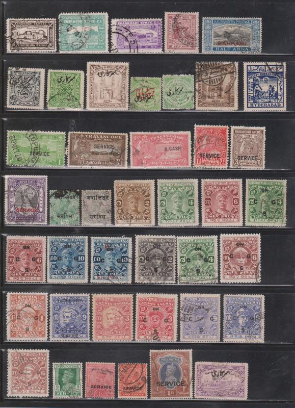 INDIA STATES - Collection Of Older Used Issues From Various States