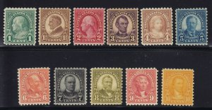 581 - 591 Set VF never hinged original gum with nice color cv $ 371 ! see pic !