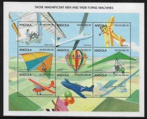 Angola #1047 MNH Sheet - Airplanes - 40% Cat.