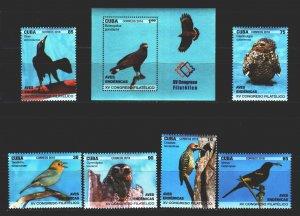 Cuba. 2018. Birds. MNH.