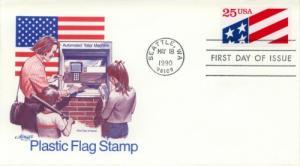 1990 Plastic Flag (Scott 2475) Artmaster FDC