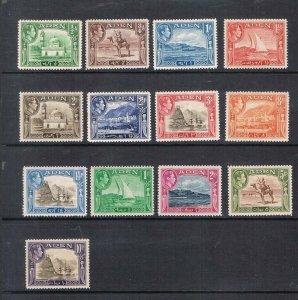 Aden 1939 KGVI Sc 16-27a MNH