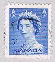 Canada QEII blue 5 left (AP106217) ...