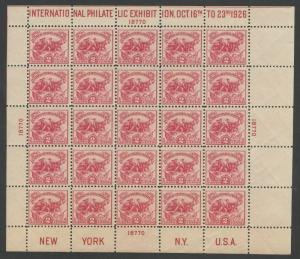 #630 WHITE PLAINS SHEET F-VF OG NH CV $575 BU5594