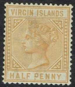 BRITISH VIRGIN ISLANDS 1883 QV KEY TYPE 1/2D NO GUM