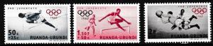 Ruanda Urundi 1960 Scott Number B26-B28 Short Set MNH