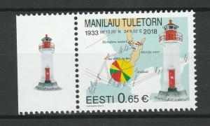 Estonia 2018 Lighthouses MNH stamp