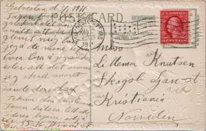 United States Texas Galveston, Texas 1911 American Flag Type A14  2c Washingt...