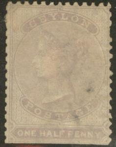 Ceylon Scott 45 MNG 1863 Victoria CV$72.5 straight edge