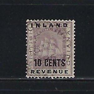 BRITISH GUIANA SCOTT #120 1889 10 CENTS  OVERPRINT- USED