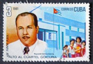 CUBA Sc# 2409  ATTACK ON GOICURA BARRACKSrevolution   1981  used / cancelled