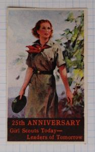 Girl Scouts Today Leaders of Tomorrow slogan 25th anniv 1937 uniform Poster ad