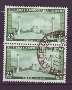 J18293 JLstamps 1938 libya tripoli pair used #73 view
