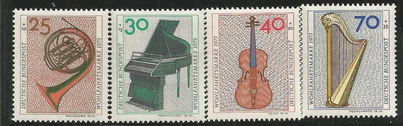 GERMANY B503-B506, MNH, MUSICAL INSTRUMENTS
