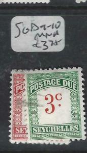 SEYCHELLES  (P3005B)  POSTAGE DUE  SG D9-10     MNH