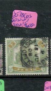 MALAYA PERAK (P2311B)  ELEPHANT  $3.00   SG 78   SON   CDS   VFU    RARE