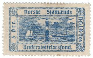 (I.B) Norway Cinderella : Sailor's Charity  5 Ore