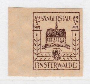 Finsterwalde WWII Germany World War II Local Stamp 1946 42+38pf MNH** A20P4F195